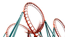Roller Coaster On White Backgroung