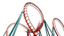 Roller Coaster On White Backgr...
