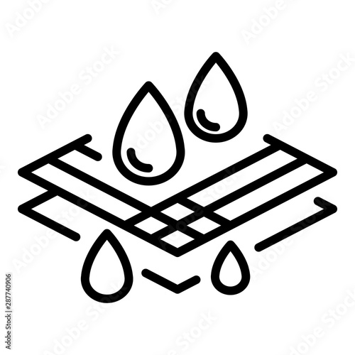 Waterproof fabric icon Wallpaper Mural