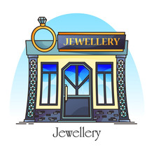 Jewellery Store Or Jewelry Shop With Diamond Ring
