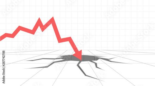 Cuadros en Lienzo Financial crisis concept
