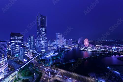 Poster Violet Yokohama Night View