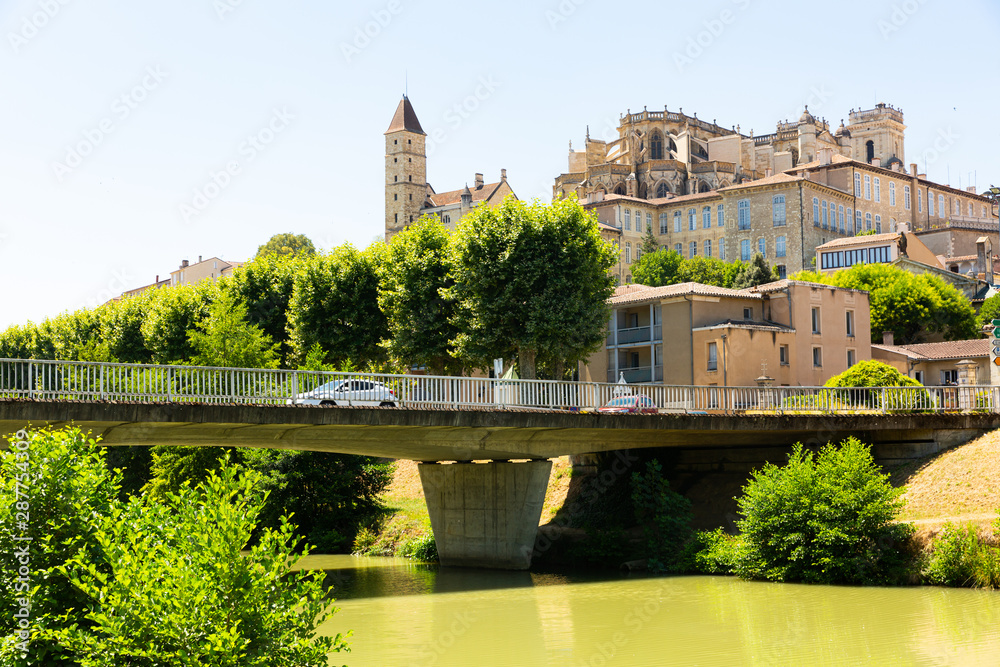 Fototapety, obrazy: Auch Cathedral and Armagnac Tower across river
