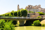 Fototapeta Kawa jest smaczna - Auch Cathedral and Armagnac Tower across river