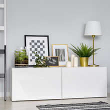 Simple, White Sideboard