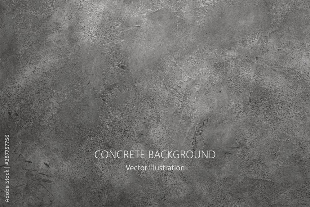 Fototapeta Vector gray concrete texture. Stone wall background.