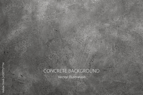 Fotomural  Vector gray concrete texture. Stone wall background.