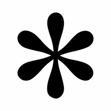 Black Asterisk Symbol