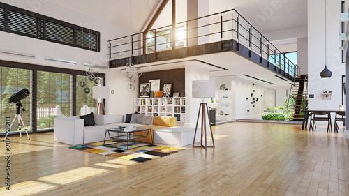 Obraz na plátně  modern house interior design