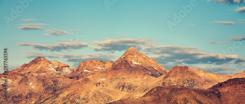 Leinwand Poster  scenic alpine summer landscape. natural mountain background.