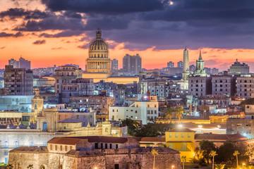 Fototapeta Miasta Havana, Cuba downtown skyline