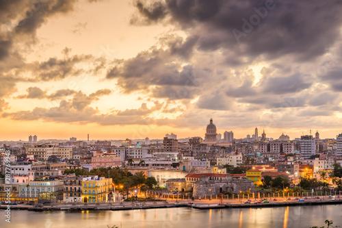 Keuken foto achterwand Havana Havana, Cuba downtown skyline