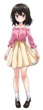 可愛い美少女 アニメ 漫画 立ち絵 表情差分 照れ Young Pretty Woman Anime Manga Shy