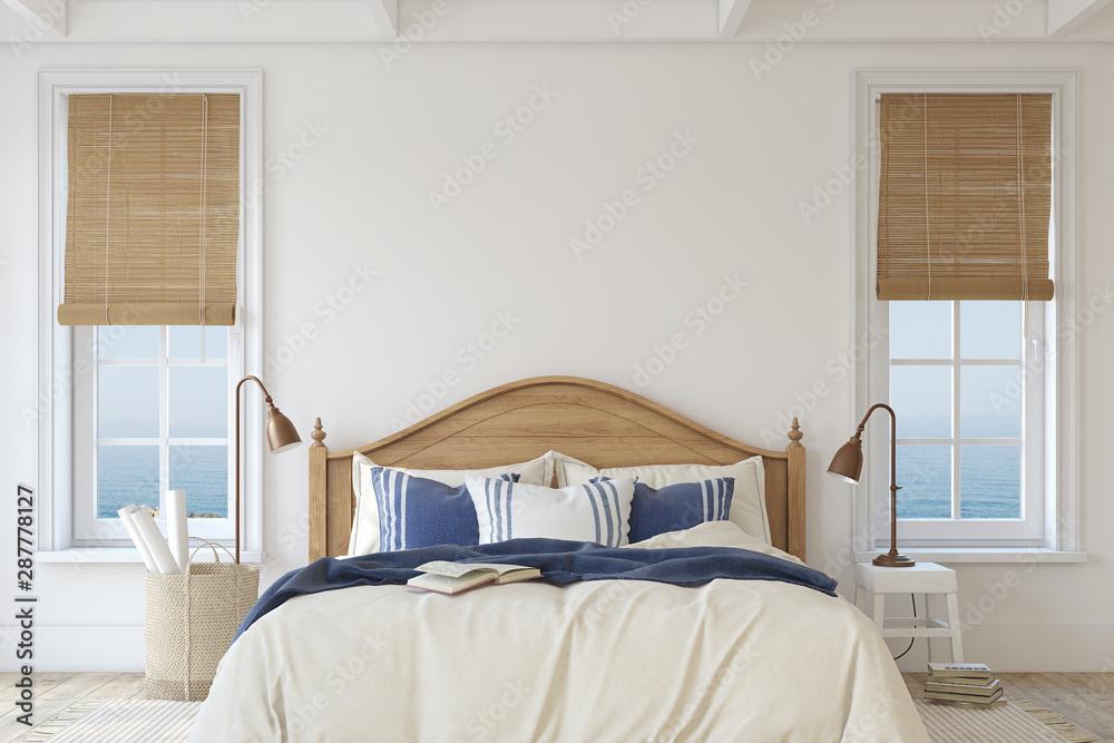 Fototapety, obrazy: Bedroom interior. 3d render.
