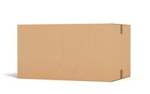 Closed Cardboard Box On White ...