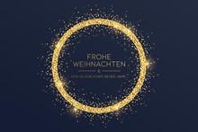 Goldene Weihnachtskarte Mit Kr...