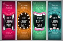 Halloween Vertical Banners Wit...