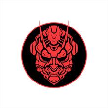 Oni Mask Mascot Logo Design