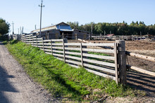 The Fence On The Farm. A Woode...