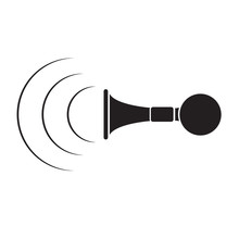 Vintage Horn Horn Icon Black O...