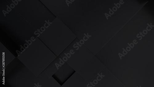 Fototapeta Abstract black cubes background. Concept data technolog obraz na płótnie