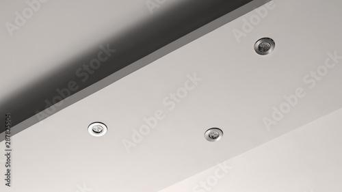 Obraz living room ceiling halogen spots - fototapety do salonu