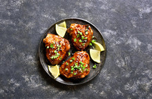 Sweet And Spicy Honey Grilled Chicken Thighs