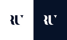 Abstract Letter RU Logo. This ...