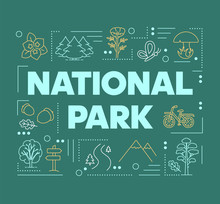National Park Word Concepts Ba...