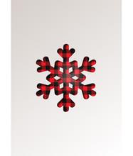 Paper Cut Style Greeting Card Winter Seasonal Holidays - Snowflake On Tartan Checkered Plaid - Vector Illustration