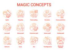 Magic Concept Icons Set. Occul...