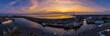 canvas print picture Sonnenuntergang Büsum
