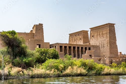 Temple of Isis on Agilkia island (moved from Philae island), Aswan, Egypt Canvas Print