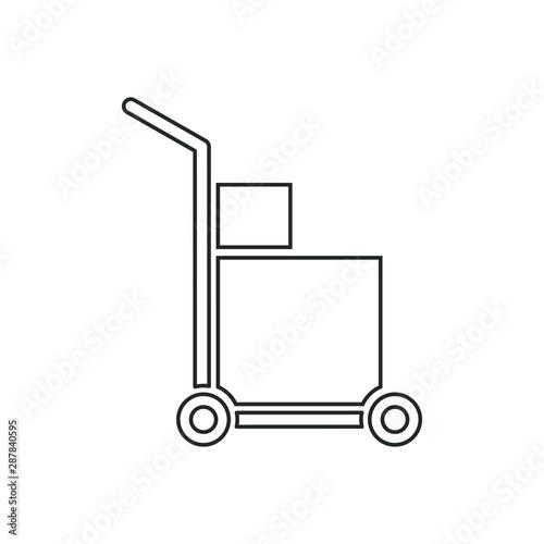 Fotografía Handcart icon with a box