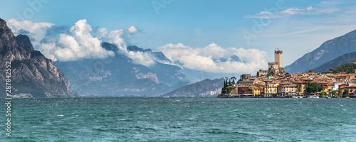 Slika na platnu Malcesine and the mountains
