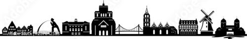 Obraz Minden City Skyline Vector Silhouette - fototapety do salonu