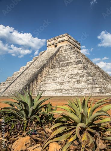 Beautiful pyramid of Chichen Itza UNESCO heritage Canvas Print
