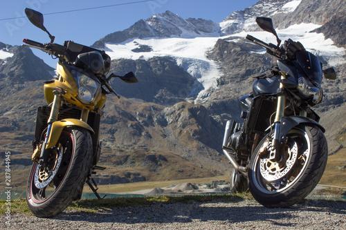 Viaggio in moto Canvas Print