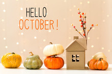 Hello October Message With Col...