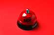 canvas print picture - Sex bell on red background. Erotic role play