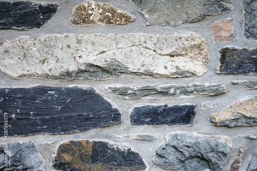 Stone Layered Wall as a Background
