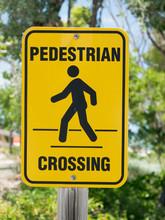 A Yellow Pedestrian Crossing S...