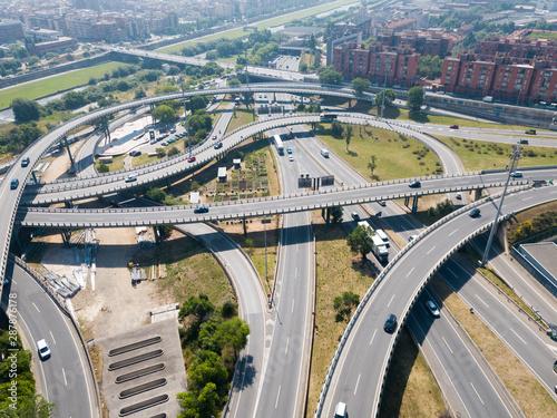 Poster Artistique Barcelona flyover interchange