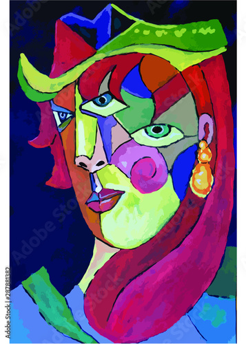 Mujer cubista Canvas Print