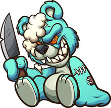 Scary Evil Teddy Bear Holding ...
