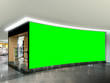 canvas print picture - Shop Front Signage Mockup with Green Screen for Easily Replacement With Your Own Graphic