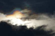 A Circumhorizontal Arc Or Fire Rainbow Over The Cloud, Is An Optical Phenomenon That Belongs To The Family Of Ice Halos Formed By The Refraction Of Sun- Or Moonlight In Plate-shaped.