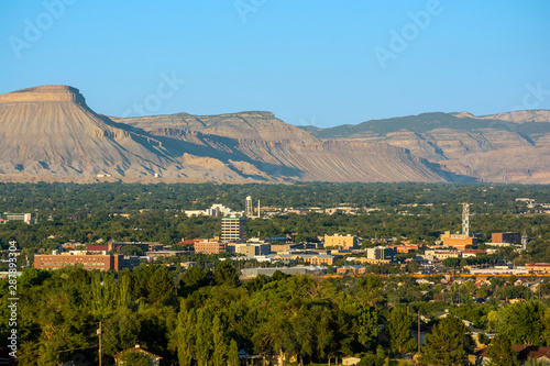 Downtown Grand Junction, Colorado on a Sunny Day Canvas-taulu