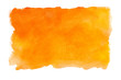 canvas print picture - Abstract watercolor orange textured background on a white isolated background
