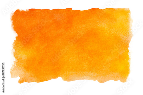 Plakaty pomarańczowe  abstract-watercolor-orange-textured-background-on-a-white-isolated-background